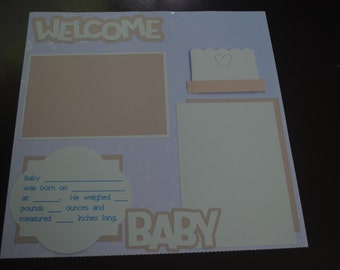 12x12 Pregnancy & Deluxe Baby's First Year Pre-Made Scrapbook Pages (20 Pages) - Baby Boy, Girl, or Neutral