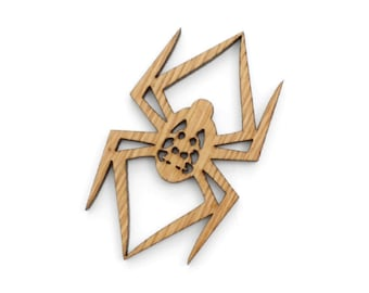 Garden Spider Ornament - Made in the USA with sustainably harvested wood! - Timber Green Woods, USA.