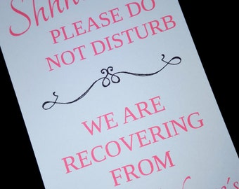 10 pack of Wedding Do Not Disturb Signs, Personalized