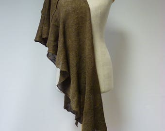 The hot price. Brown linen shawl, perfect for gift.