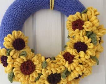 Summer Sunflowers Wreath