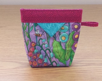 Quilted Snap Bag (SB614) Floral