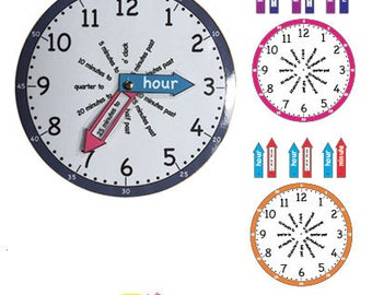 Primary Resource Tell the time clock PDF Printable (Make it yourself)