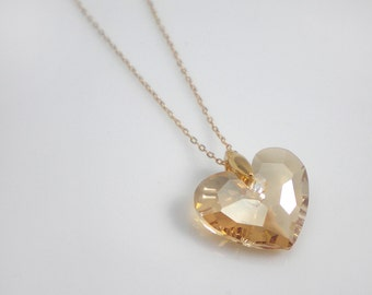 Swarovski heart pendant necklace - Truly in love