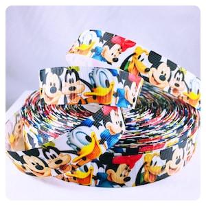 Fab 5 Grosgrain Ribbon, Mickey and Friends Ribbon, Hairbow, Scrapbook, Sewing, Craft Ribbon, Cute Ribbon, Disney Ribbon, Craft Ribbon