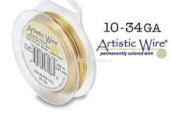 Non-TARNISH BRASS Artistic Wire Tarnish Resistant Craft Wire (10, 12, 14, 16, 18, 20, 22, 24, 26, 28, 30, 32, 34 Gauge)