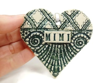Mimi Ornament, Pregnancy Reveal, New Grandmother, Baby Announcement, Christmas Ornament, New Grandparent, Mimi Birthday, Mother's Day Gift