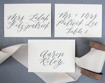 Wedding Place Cards, Calligraphy Place Cards, Place Card, Escort Cards, Escort Card, Placecards, Handwritten Place Cards, Custom Calligraphy