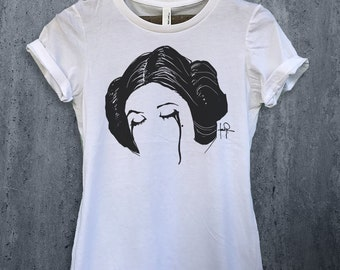 Princess Leia RIP Women's Graphic Tee Carrie Fisher shirt-Tee-Star Wars-T-shirt