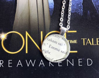 Book Page Jewelry • Emma Swan • Once Upon A Time • ONCE • Ugly Duckling • TV Show Jewelry • ONCE Jewelry • Emma Swan Necklace • Fairy Tales