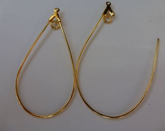 Teardrop Hoop With Loop Gold Plated