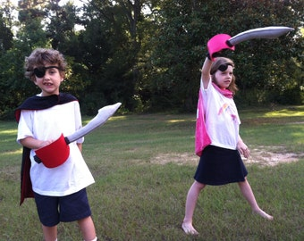 Felt Pirate Sword for adventuring, imaginative play
