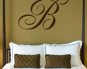 Giant Monogram - Wall Decals - Your Choice of Letter - Your Choice of Color