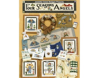 Angels Cross Stitch Booklet, Four Seasons Angels Cross Stitch, Cross Stitch Booklet, Angels Patterns, by NewYorkTreasures Etsy