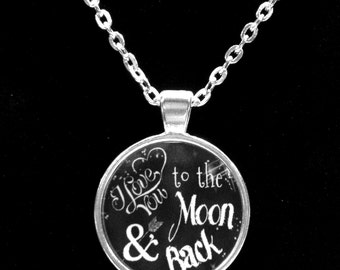 Best Friend Gift, I Love You To The Moon And Back Necklace