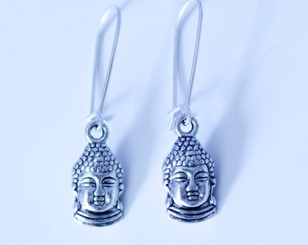 Sterling Silver Plated Buddha Earrings