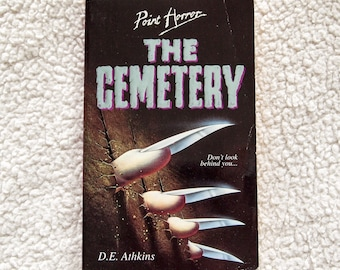 Vintage 90s Point Horror The Cemetery by D E Athkins Paperback Book