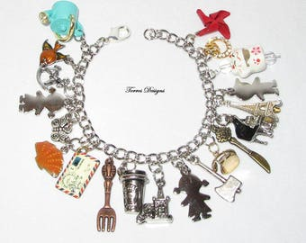 Animal Crossing New Leaf Charm Bracelet Custom made OOAK One of a Kind Collectible Gift by Torres Designs