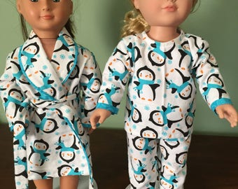 Pajamas and Robe for Doll