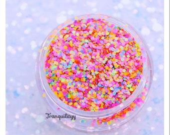 Nail Art Glitter , Neon Matte Sugar Glitter , 0.8 Matte Glitter , Solvent Resistant, Nail Polish, Resin Craft , Miniatures Food DIY