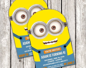 Easy adorable printable parties by letsprintaparty on etsy minion invitation despicable me birthday party diy printable filmwisefo Gallery