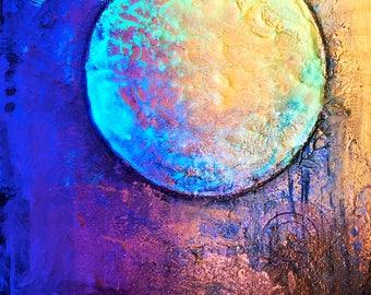 Melting Sun - 5x7 inch fine art metallic photo print : FREE SHIPPING