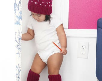 Hearty Plum | Hat and Leg Warmers Set