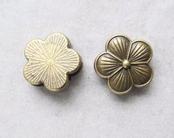 1 busy flower bronze tone metal