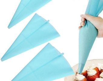New Reusable Pastry Bag Icing Piping Bag Nozzle Tips Fondant Cake Decorating Piping Bag Cupcake Cake Decorating Kitchen Baking Candy