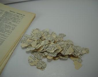 Confetti 500 Vintage Dictionary Hearts Wedding Parties Birthday