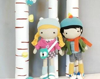 "Handcrafted STUDIO DOLL 15"" - Boy. Handmade, Doll, Boy, Toy, Plush, Children, Gift"
