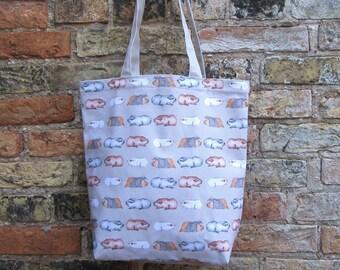Luxury Tote Bag - Water Colour Guinea Pig Design