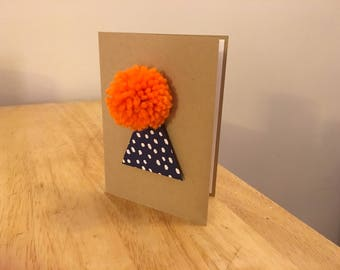 Birthday Hat Folded Card