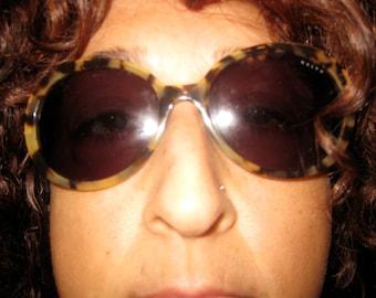 Vintage RALPH LAUREN Sunglasses Tortoise Frames Fabulous Movie Star Framed Sun Glasses