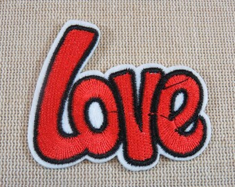 Patch LOVE, love patch iron patch Love Patch appliqué, fusible, textile, fusible patch, sewing