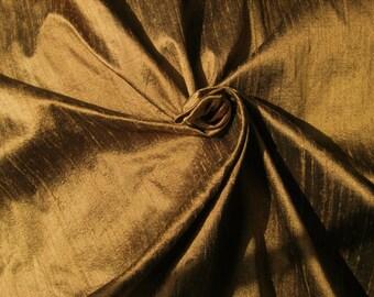 """Copper 100% dupioni silk fabric yardage By the Yard 45"""" wide"""
