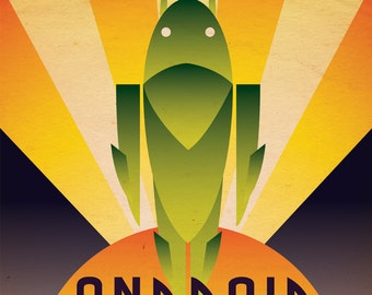 Art Deco Android Poster