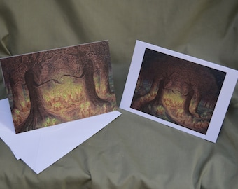 In the heart the woodland wakes- greetings cards