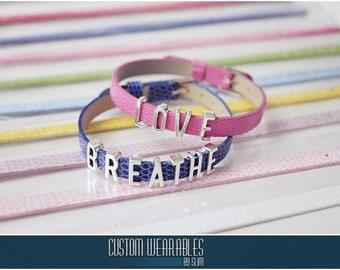 CUSTOM Slider Letter Bracelets! (Lots of colors to choose from!)