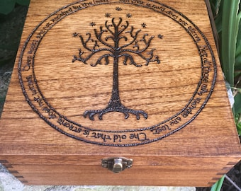 Lord of the rings inspired box, jrr Tolkien, the hobbit, wooden gift box, wooden box, gift idea