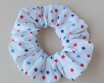 4th of July Scrunchy, patriotic, America, red white and blue