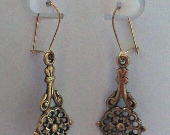 Antiqued Brass Earrings 1