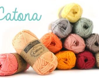 Cotton, yarn, ships, Catona, 100% cotton, knitting, hooks,