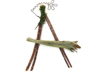 8 letter word in natural twig letters