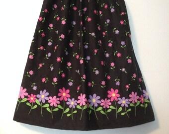 womens knee length skirt, elastic waist