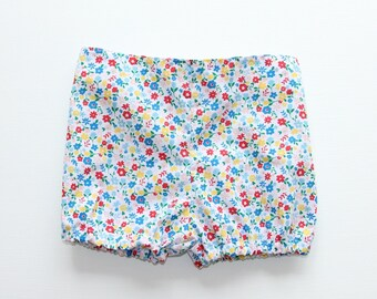Spring Floral flat front baby bloomers
