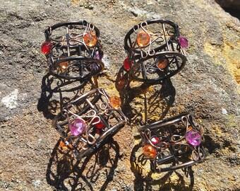 Four Napkin Ring  Holders