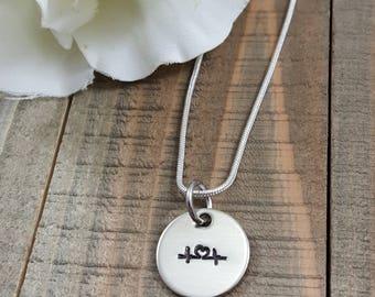 Nurse necklace, Dainty Necklace, Nurses, Medical, RN necklace, EKG necklace