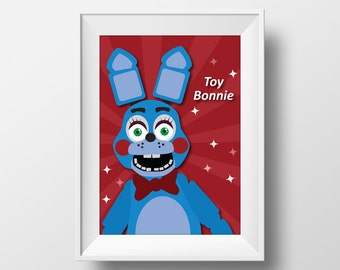 Five Nights at Freddy's Toy Bonnie Inspired Printable Wall Art