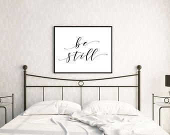 PRINTABLE - Be Still Poster Printable